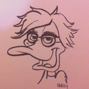 I'm calling this Daffy Warhol. A mash up of Daffy Duck and Andy Warhol. Daffy is one of my favorite Looney Tunes characters and of course I was/am a Pop Art/Andy fan.