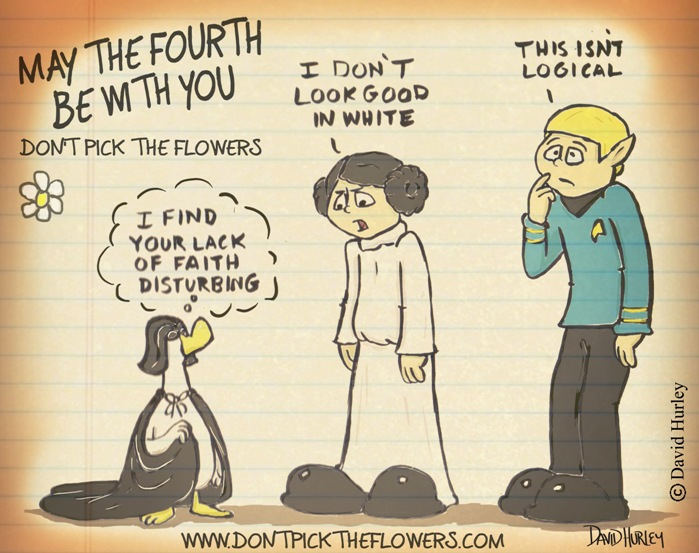 May the Fourth Be with You, an extra comic for Star Wars Day.